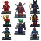 Spiderman Flash Batman Deadpool Marvel Superheroes mini movie minifigures Lego Compatible Toys