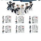 Swat Army World war mini figure white minifigure Lego Compatible toys