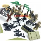 American Soldiers WW2 Sets Soldiers minifigures African decisive battle Lego Compatible