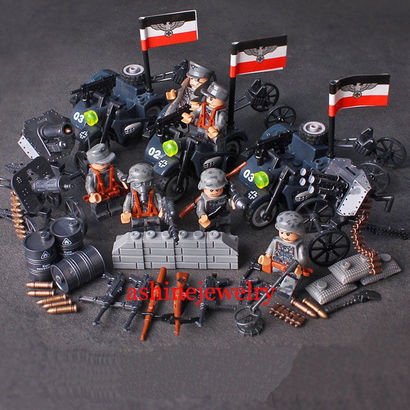 Germany Soldiers German motorized Legion WW2 Soldiers minifigures Lego Soldiers Compatible Toys