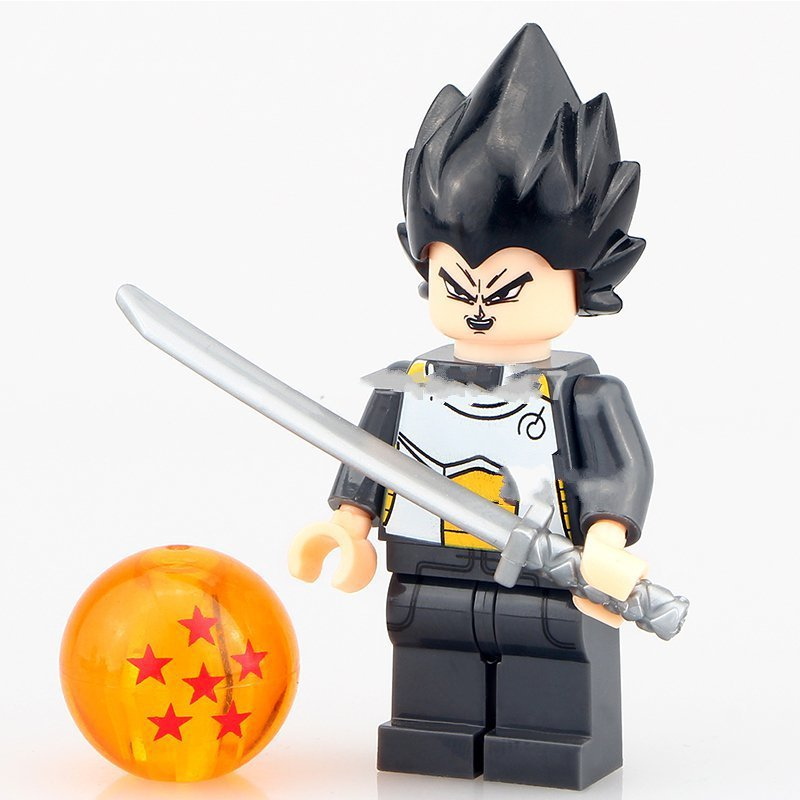 Dragon Ball Z minifigures Vegeta Anime Cartoon Lego Compatible Toys