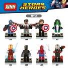 Marvel Avengers Captain America 3 minifigures Winter Soldier Iron Man Hulk Lego Compatible Toys