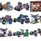 Marvel Superhero Minifigures Batman Spiderman Captain America X-men Superman Lego Fit