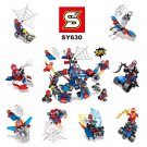 Spider-Man Homecoming Marvel Superheroes SpiderMan sets minifigures Lego Compatible Toys