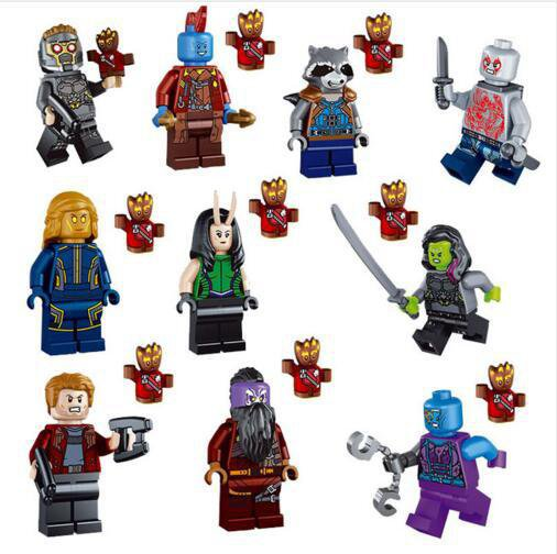Marvel Super Heroes 76079 Guardians of the Galaxy minifigures Lego Compatible Toys