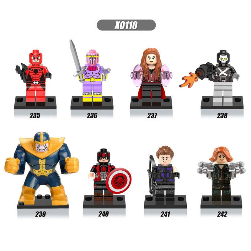 Marvel Comics Ant-Man Baron Zemo Scarlet Witch Thanos minifigures Lego Compatible Toys