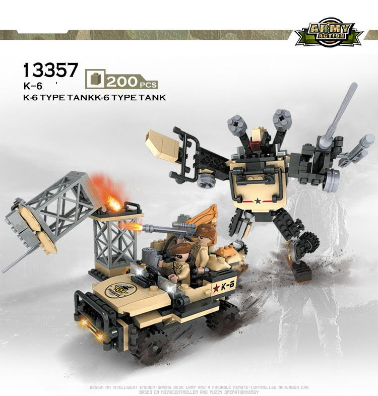 Military Sets Transformers Car Robot Lego Transformers Compatible Military Jeep