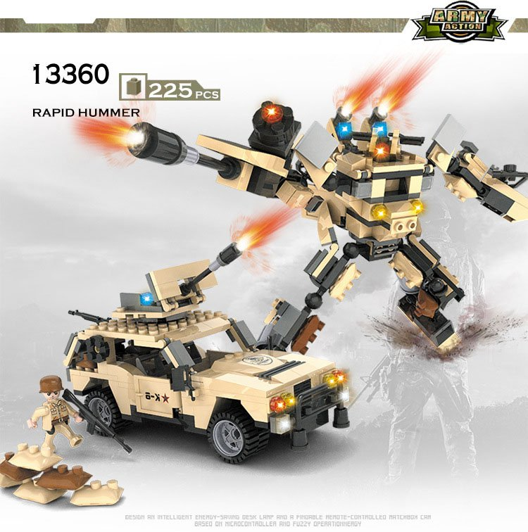 Hummer Transformer Robot Fight Military Sets Lego Hummer Transformer Compatible Toys