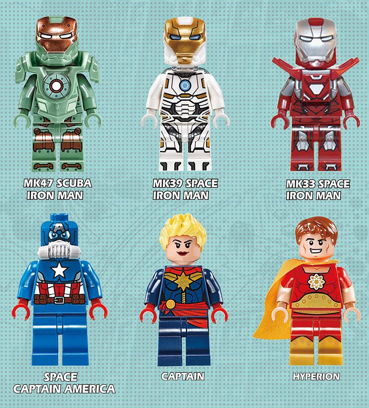 Marvel movie Captain America sets minifigures Lego Compatible Toys