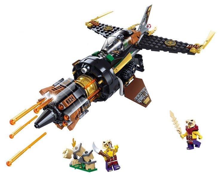 Ninjago Movie sets Manta Ray Bomber Lego minifigures Compatible Toys