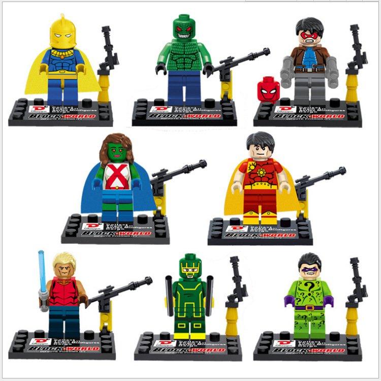 DC Superhero Movie sets Justice League minifigures Lego Compatible Toys