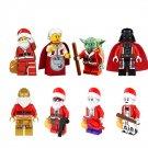 Star Wars Master Yoda Darth Vader minifigures Christmas Santa Claus Lego Compatible toys