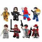Marvel Superhero sets Winter Soldier Spider Man Ghost Rider minifigures Lego Compatible Toy
