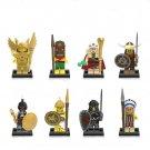 Minifigures series 4 Viking Athena Saint Seiya Pharaoh Lego Compatible Toys