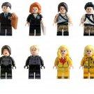 Tomb Raider sets Lara Croft, Agent FBI,Uma Thurman minifigures Lego Compatible Toys