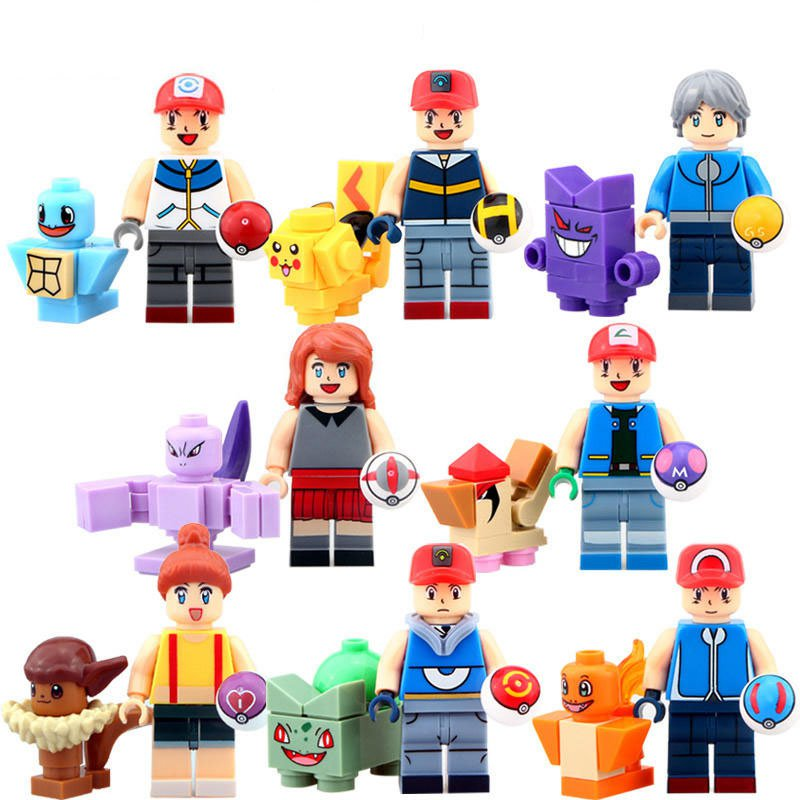Pokemon Go Sets Pocket Monsters Minifigures Compatible Lego Minifigures