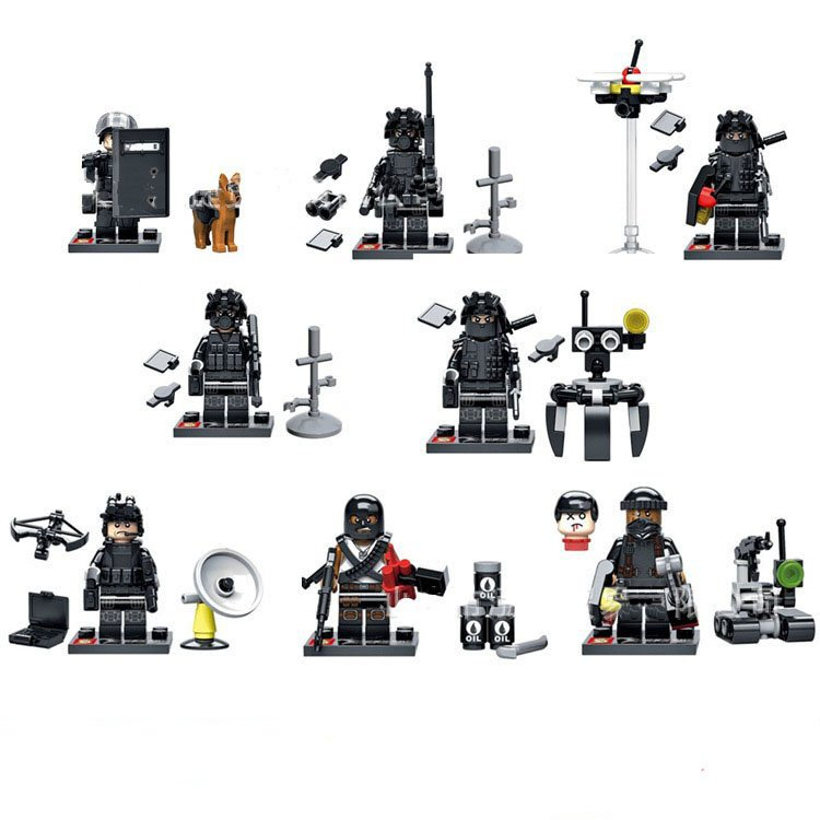 Custom US NAVY UDT SEAL Minifigures Military Sets Compatible Lego Soldiers