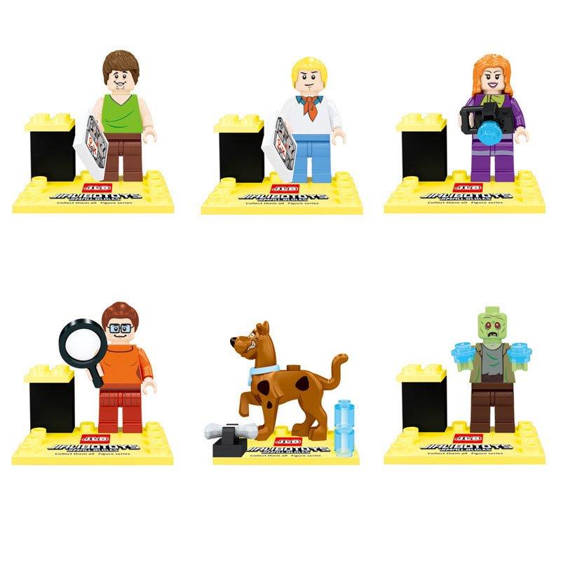 Scooby Doo Fred Jones Daphne Blake Shaggy Rogers Compatible Lego Minifigures