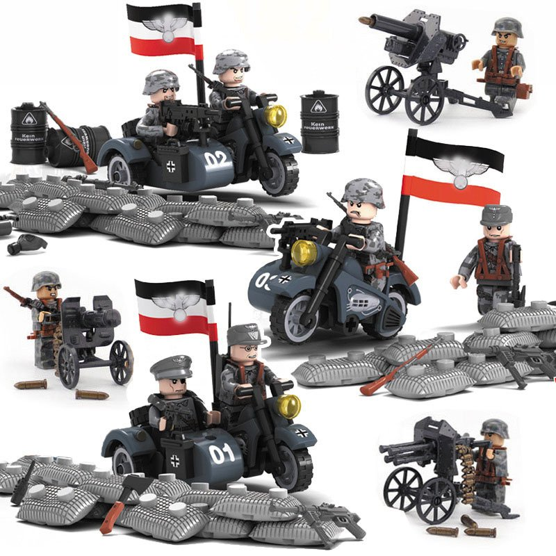 World War 2 German 21 Panzer Division Minifigures Lego Military Compatible Toy