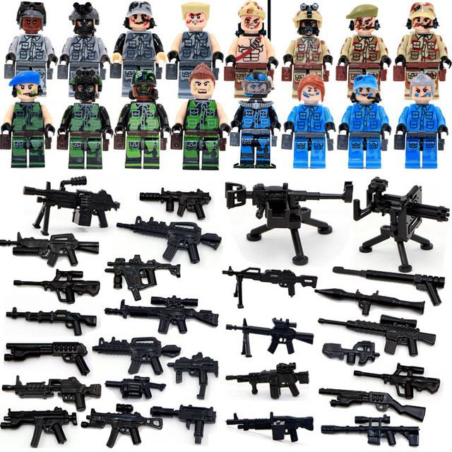 Military Sets SWAT CSF Soldiers Counter-terrorism Minifigures Lego Compatible Toy