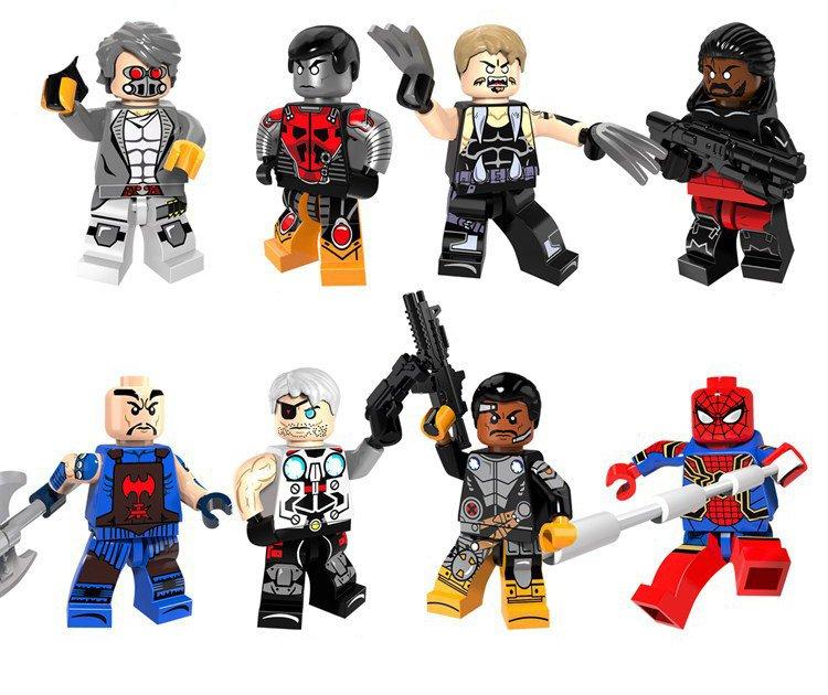 Marvel Superhero Set Villain Minifigures Lego Compatible Toy�colossus�Electric cable