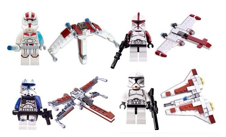 Star Wars set Clone Trooper Minifigures Lego Compatible Toy
