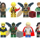 DC Superhero set Aquaman Green Lantern Minifigures Lego Compatible Toy