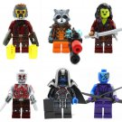 Guardians of the Galaxy Starlord Rocket Minifigures Lego Compatible Toy
