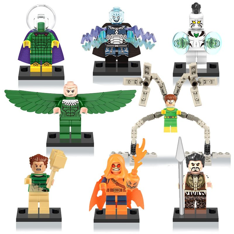 Marvel Sets Superhero Doctor Octopus minifigures Lego Compatible Toy