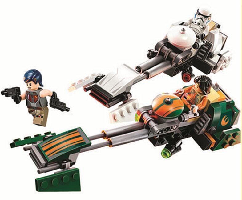 Star Wars stes Ezra's Speeder Bike minifigures Lego Compatible Toy