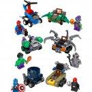 Superhero sets Spiderman America dodgem Minifigures Lego Compatible Toy