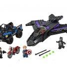 Superhero Sets Captain America 3 Panther's pursuit Lego Compatible Toys