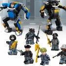 Blasting Assault Hand Commander swat Military minifigure Lego Compatible Toy