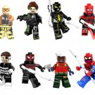 Spiderman sets G. W. Bridge Nick Fury minifigures Lego Compatible Toy