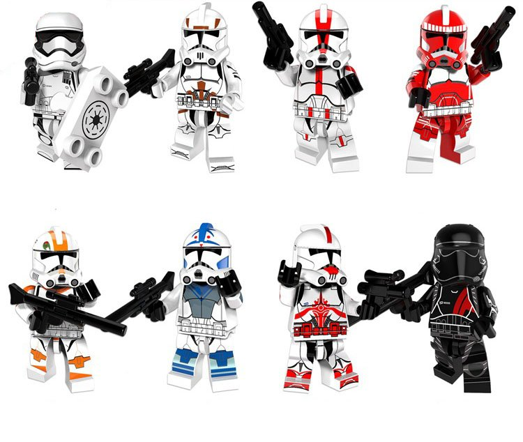 2018 Clone Troopers minifigures Star Wars sets Lego Compatible Toy