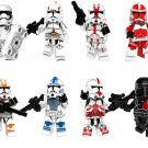 Star Wars 8 sets Clone Trooper Minifigures Lego Compatible Toy