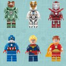 Iron Man Movie series minifigures MK47 MK39 MK33 Lego Compatible Toy