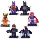 Wolverine Magneto Storm minifigures Lego Compatible Toy,X-Man sets