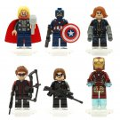 Avengers sets movie Iron Man Black Widow minifigures Lego Compatible Toy