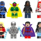 Superhero sets Racing Iron Man Vision Red Widow minifigures Lego Compatible Toy