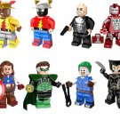 The Flash Iron Man Wolverine minifigures Lego Superhero sets Compatible toys