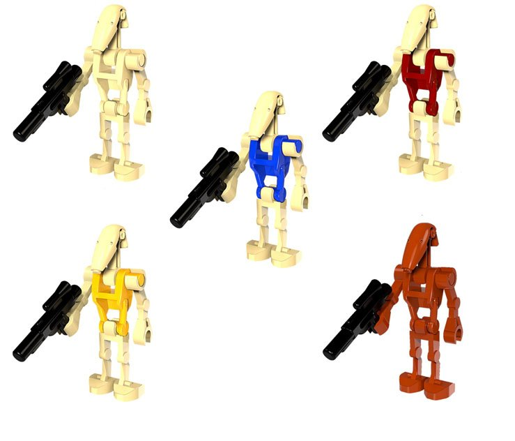 Star Wars The Last Jedi Battle Driod Duck soldiers Minifigures Lego Compatible toys