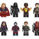 Justice League minifigures Lego Compatible ,Supergirl Prometheus Atom toys