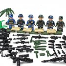 Military sets Lego Compatible Toy ,America soldiers Minifigures Joint operations of the three Army