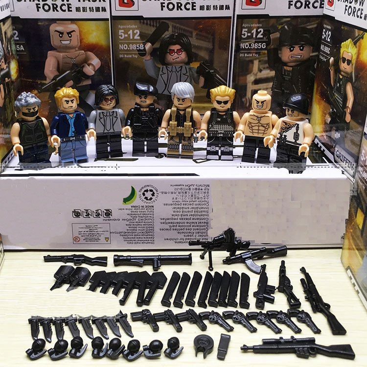 The Expendables Swat Lego Military Minifigures Compatible Toy