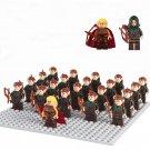 The Hobbit Mirkwood Elf Army minifigures Lego 79012 Compatible toys (21 pcs)