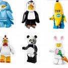 City Civilian Costume Dressup Pig Bee Bunny Ape Minifigure Lego Compatible Toy