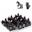 Medieval Knights Black army war minifigures Lego Compatible Toys