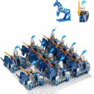 Medieval Knight Blue Army Castle war minifigures Lego Compatible Toys