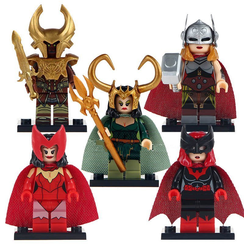 Heimdallr Lady Loki Lady Thor minifigure Lego Marvel Sets Compatible Toys